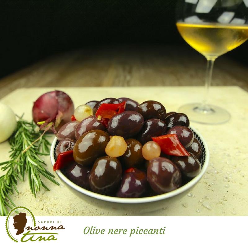 Olive nere piccanti